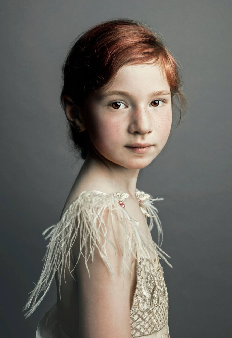 Girl With Feather (Commended In Portraiture)