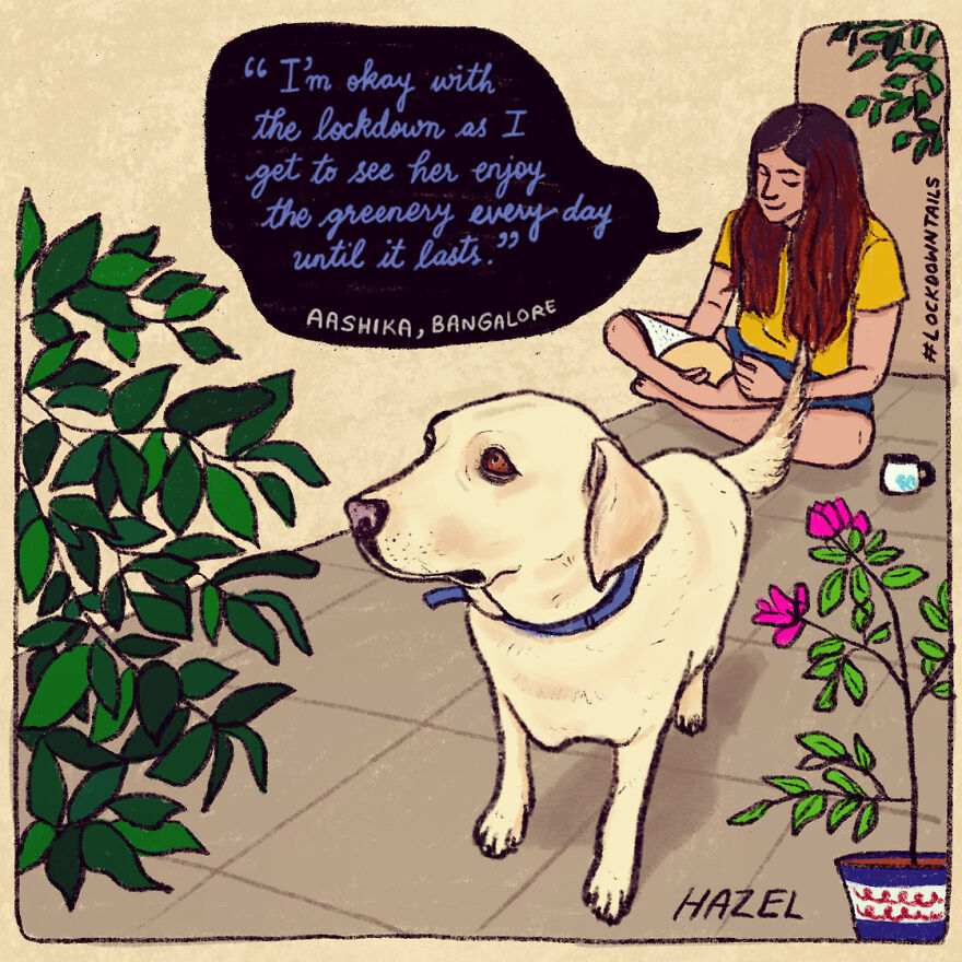 I Made A Series Of Illustrations Of Pet Parents In Lockdown