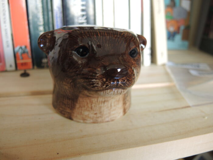 This Magnificent Otter, And It's An Egg Cup Too!