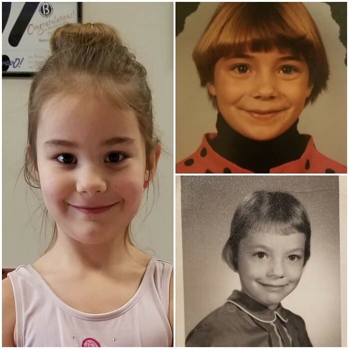 Clockwise From Left: My Daughter, Me, And My Mother. All Age 7. My Daughter Somehow Looks More Like My Mother Than I Do!