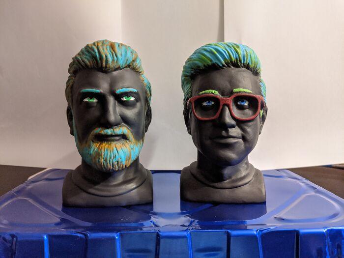 Chia Rhett & Link. I Can't Grow Plants So I Painted Them. ¯_(ツ)_/¯