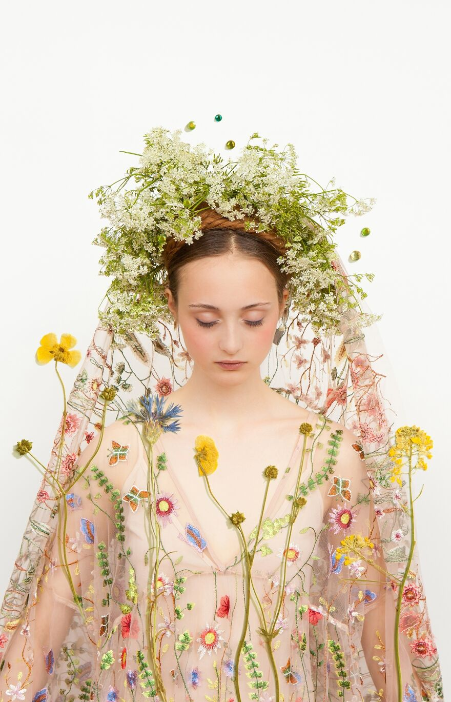 Girl With Wild Flowers Nr.2