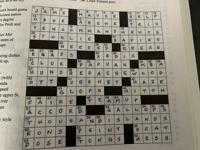 Crossword I Just Finished...