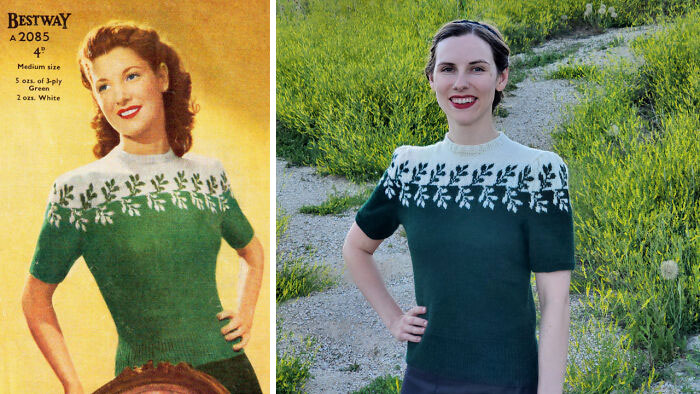 I Finished A 1940s Sweater A While Back And Wanted To Share!