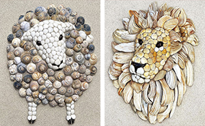 This Artist Creates Charming Animal Mosaics From Seashells Found At The Beach (30 Pics)