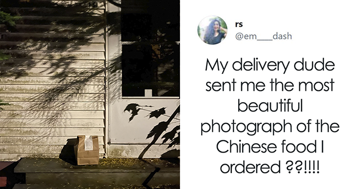 Twitter User Shared The Epic Picture A Food Delivery Person Took And Went Viral With People Tweaking It To Make It Even More Artsy