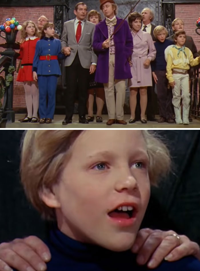 En Willy Wonka y la Fábrica de Chocolate (1971), cuando los niños ven por primera vez la sala de chocolate, sus reacciones son auténticas. El director Mel Stuart se aseguró de que ninguno de los niños actores viera el gigantesco decorado mientras se construía