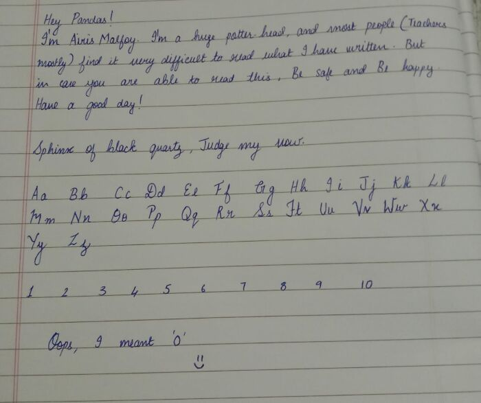 This Is My Handwriting! 😁