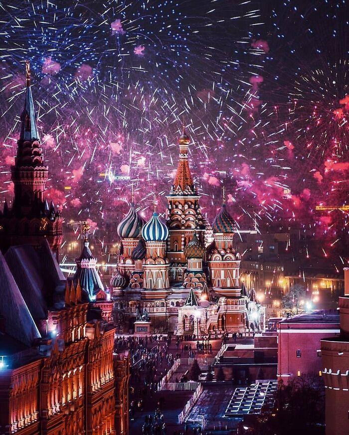 ¡Feliz Año Nuevo! Moscú, Rusia