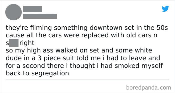 Smoked Myself Back To Segregation