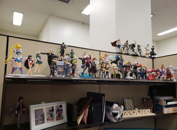 I Collect Various Anime Figures. These Are Just The Ones On Top Of The Desk.