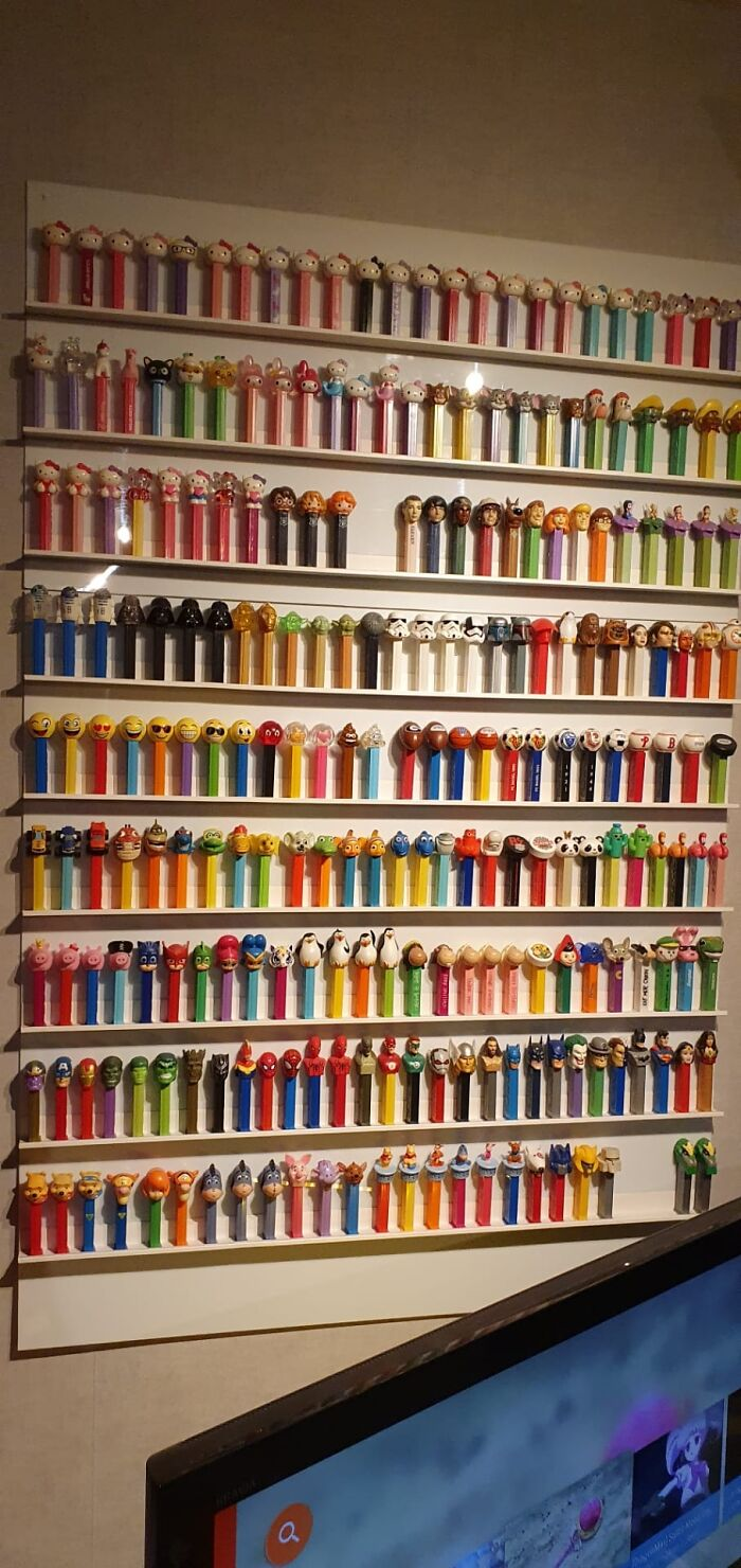 Pez Dispensers. This Pic Represents About 20% Of My Actual Collection Started 5 Years Ago
