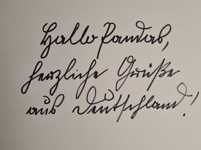 Old German Handwriting. I Still Use It Sometimes.