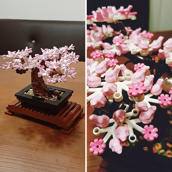 The Blossoms On My LEGO Bonsai Are Small Frogs