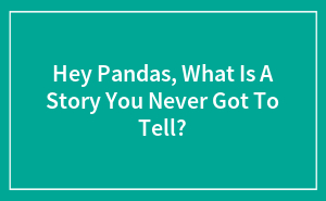 Hey Pandas, What Is A Story You Never Got To Tell? (Closed)