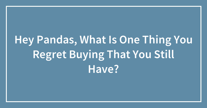 Hey Pandas, What Is One Thing You Regret Buying That You Still Have? (Closed)