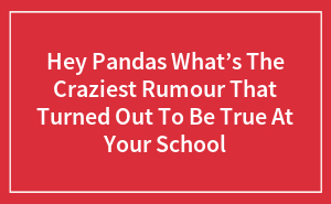 Hey Pandas, What's The Craziest Rumor That Turned Out To Be True At Your School