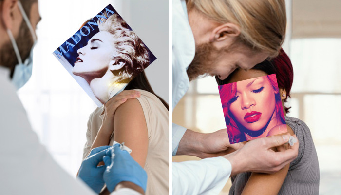 Pop Stars Get 'Vaccinated' In My Photo 9 Collages