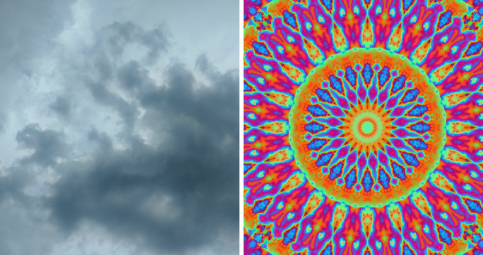 I Take Digital Pictures Of Flowers, Clouds, Sunrises & Sunsets And Use An Art Program To Colorize And Manipulate Them Into Designs