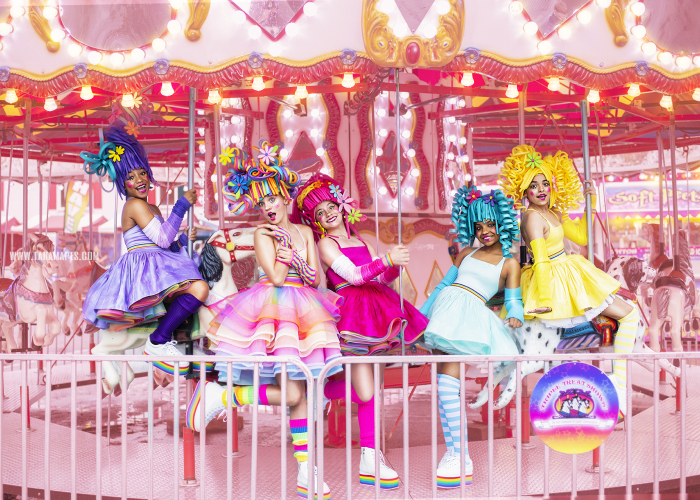 I Created Foam Wigs And Shot At An Empty Carnival To Create This Colorful Carnival Photoshoot