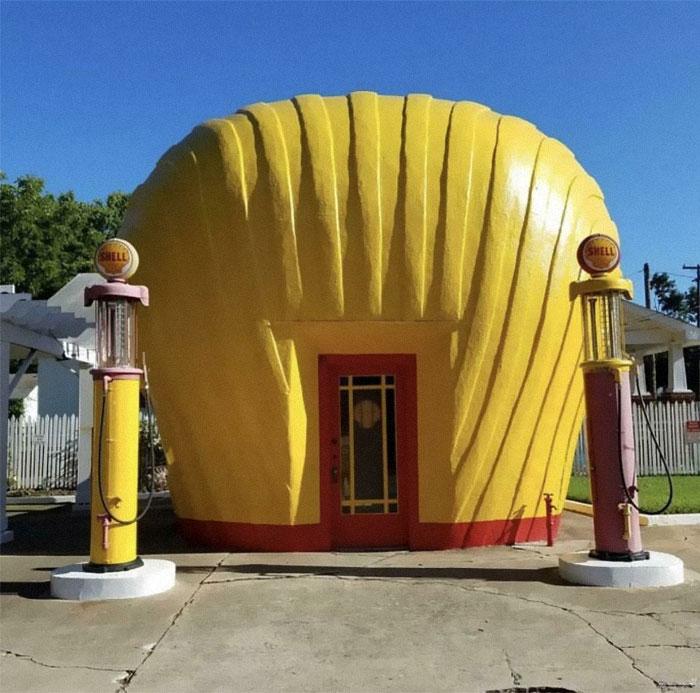 Una gasolinera Shell original de los años 30