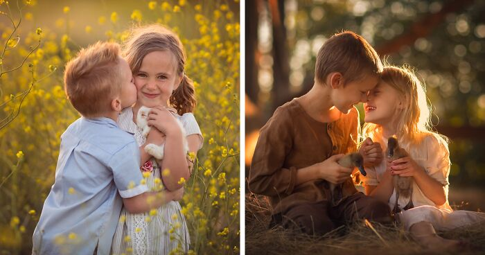 I'm A Mother Of 11 Children, And I Love Capturing Them Interacting With Farm Animals (41 Pics)