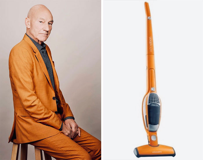 Twitter User Puts Sir Patrick Stewart Side By Side With Matching Vacuums, And It's Hilariously Accurate (14 Pics)
