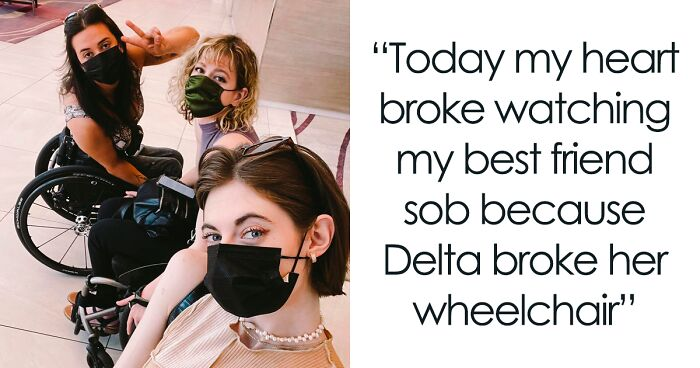 Wheelchair-Using Woman In Tears After Delta Airlines Breaks Her Wheelchair, Others In The Disabled Community Come To The Rescue
