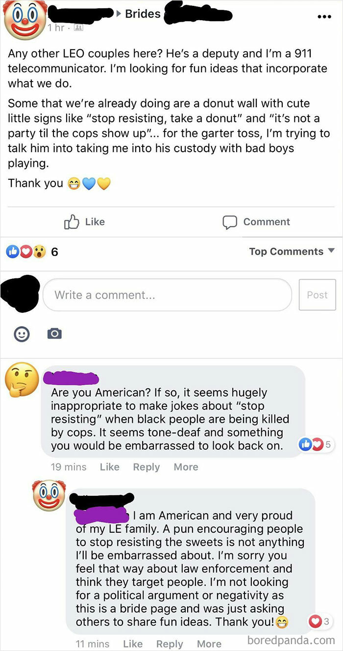 """Is It Possible To Get Married To A Cop Without Theming Your Entire Wedding Around His Job? Extra Sensitivity Points For """"Stop Resisting"""" Being Used In Reference To Donuts, Instead As The Usual Excuse To Kill Black People"""