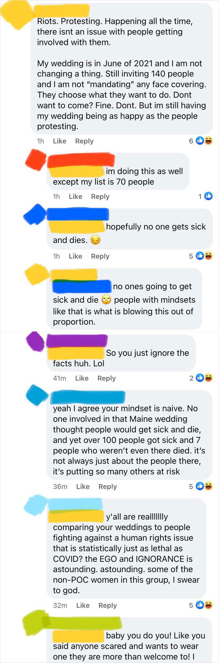 Another Bride Comparing Her Wedding To Protests