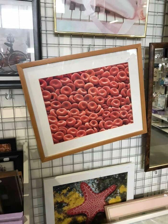 Por 6$, un cuadro encantador de... ¿glóbulos rojos?