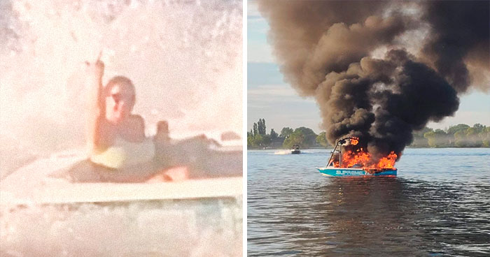 Estos homófobos pidieron socorro a los tripulantes del bote del Orgullo al que estaban acosando tras explotar su propia embarcación