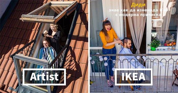 """Lithuanian Photographer Outraged After IKEA Bulgaria Rips Off His """"Quarantine Portraits"""" Series"""