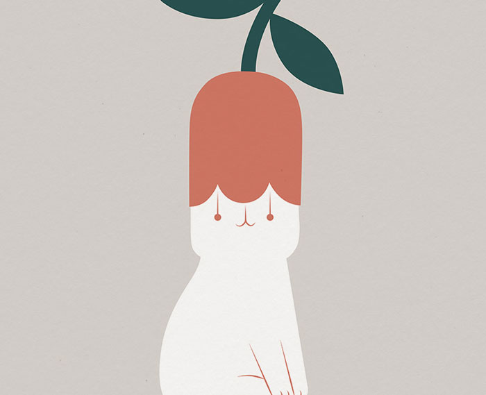 My 26 Minimal Illustrations With Cats And Plants