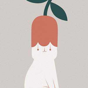 My 26 Minimal Illustrations For Plant And Cat Lovers