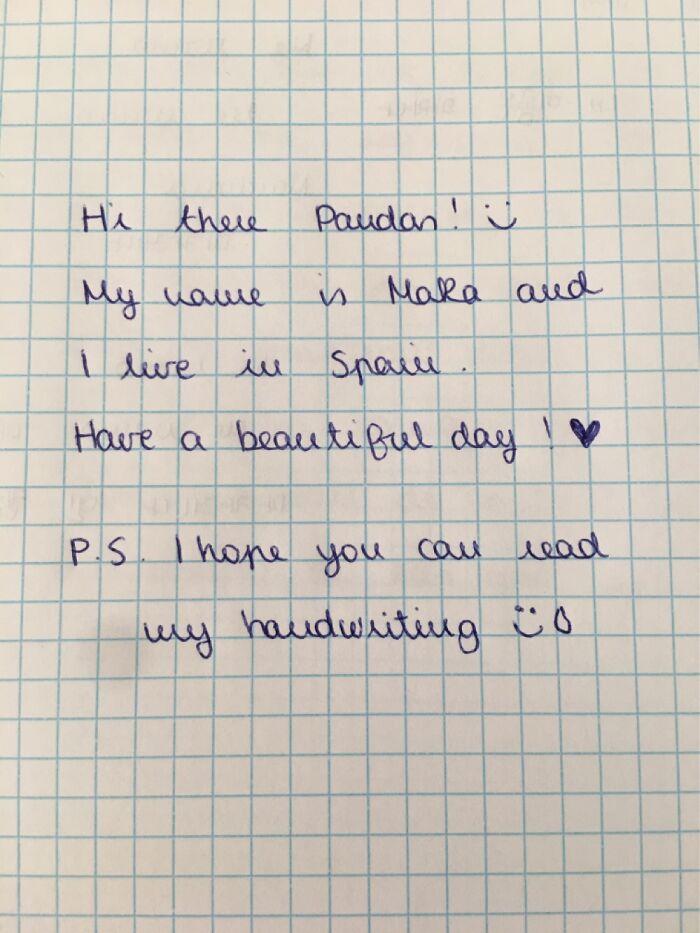 Hi There Fellow Pandas! Love Seeing Your Handwritings!