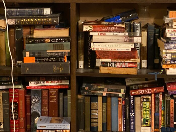 Books, I Have Over 500 Books That I've Collected Over The Years. This Is A Small Section.