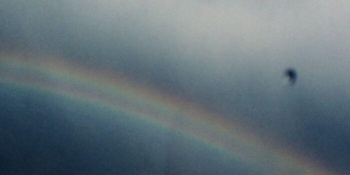 Double Rainbow During A Rainstorm