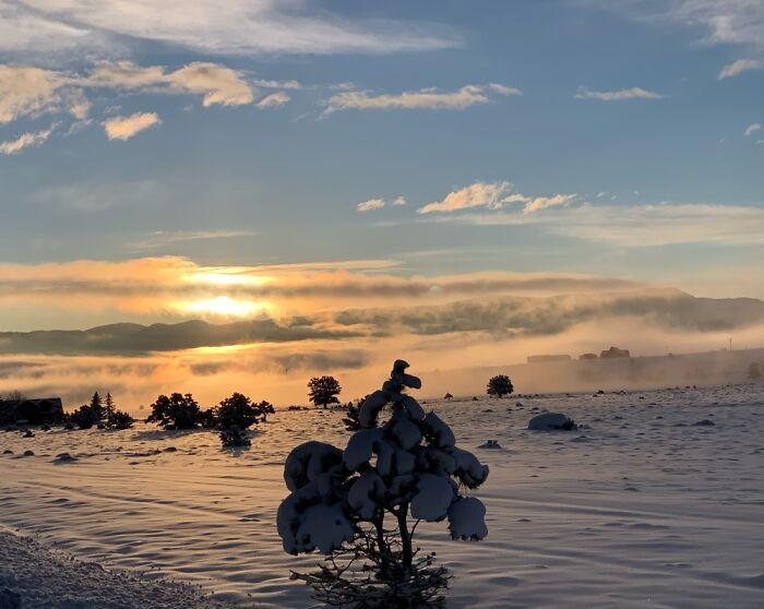 Nathrop, Co Winter Winter Morning