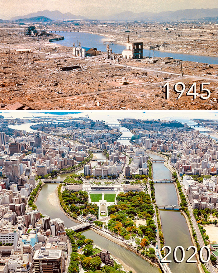 Hiroshima, Before When It Got Wiped Off The Map And Less Than A Single Lifetime After