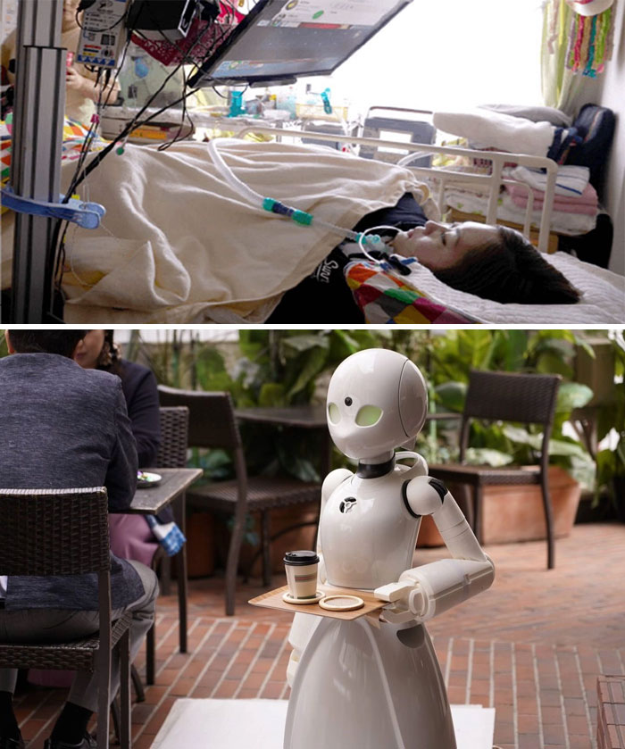 A Cafe In Japan Is Hiring Paralyzed People To Control Robot Servers In Order To Still Make An Income