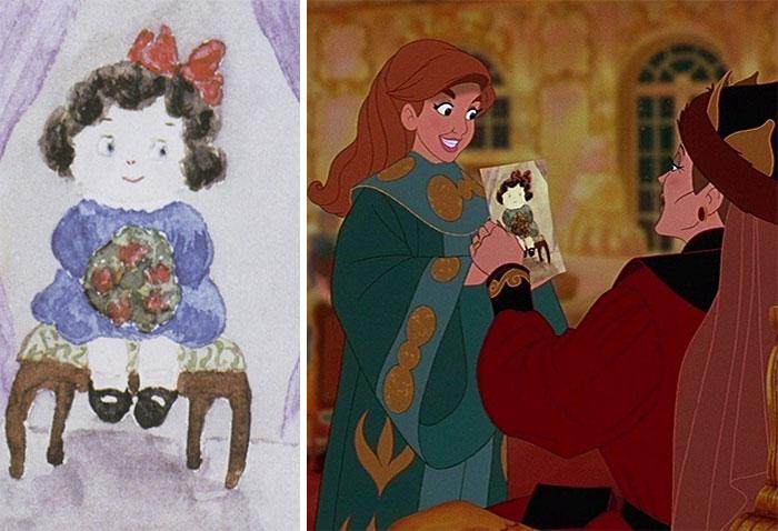 En Anastasia (1997), el dibujo que Anastasia regala a su abuela está basado en un cuadro de 1914 creado por la verdadera princesa Anastasia