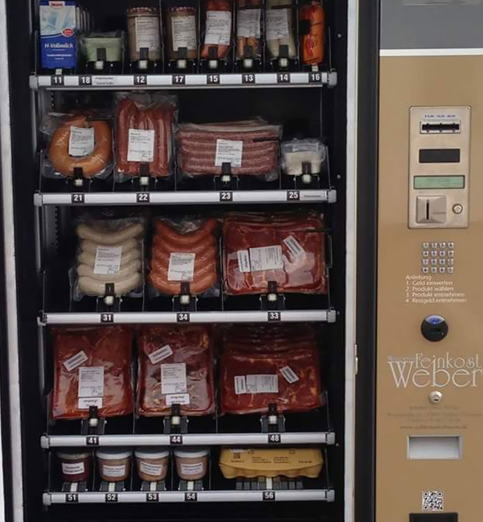 Una máquina expendedora de carne cerca de mi ciudad natal en Alemania