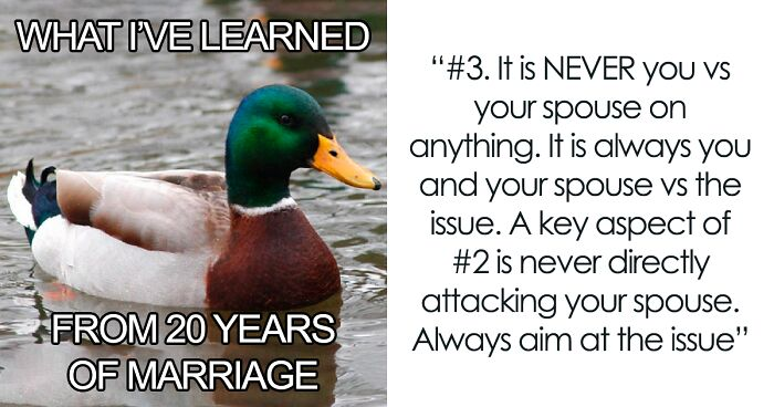Man Explains What He Has Learned From 20 Years Of Marriage In 10 Bullet Points