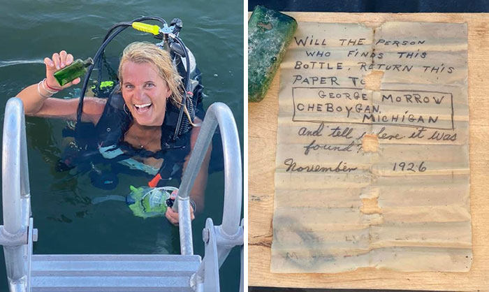 Woman Finds Sunken Message In Bottle From 1926 Addressed To One George Morrow, The Internet Helps Find Surviving Relatives