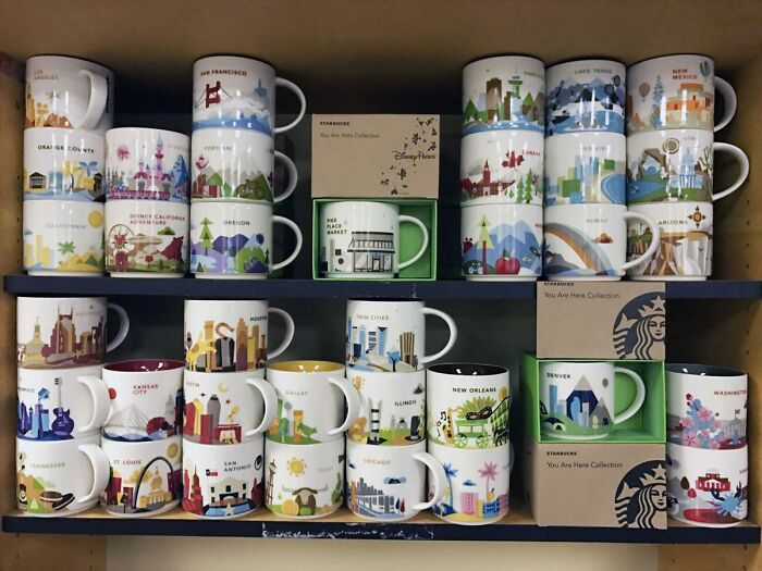 Starbucks 'You Are Here' Mugs- Collected From All The Places I've Been, With A Couple From Places I Haven't Given To Me As Gifts!