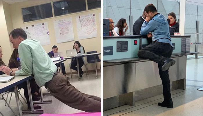 40 Fotos de personas en posturas muy raras en público, recogidas en esta cuenta de Instagram
