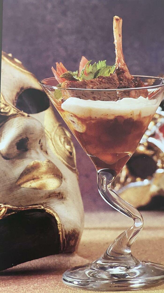 Anyone Fancy A Lamb Chop Tandoori With Mango Chutney- In A Glass?!! Taken From A Book Called Aphrodisiac Cuisine...