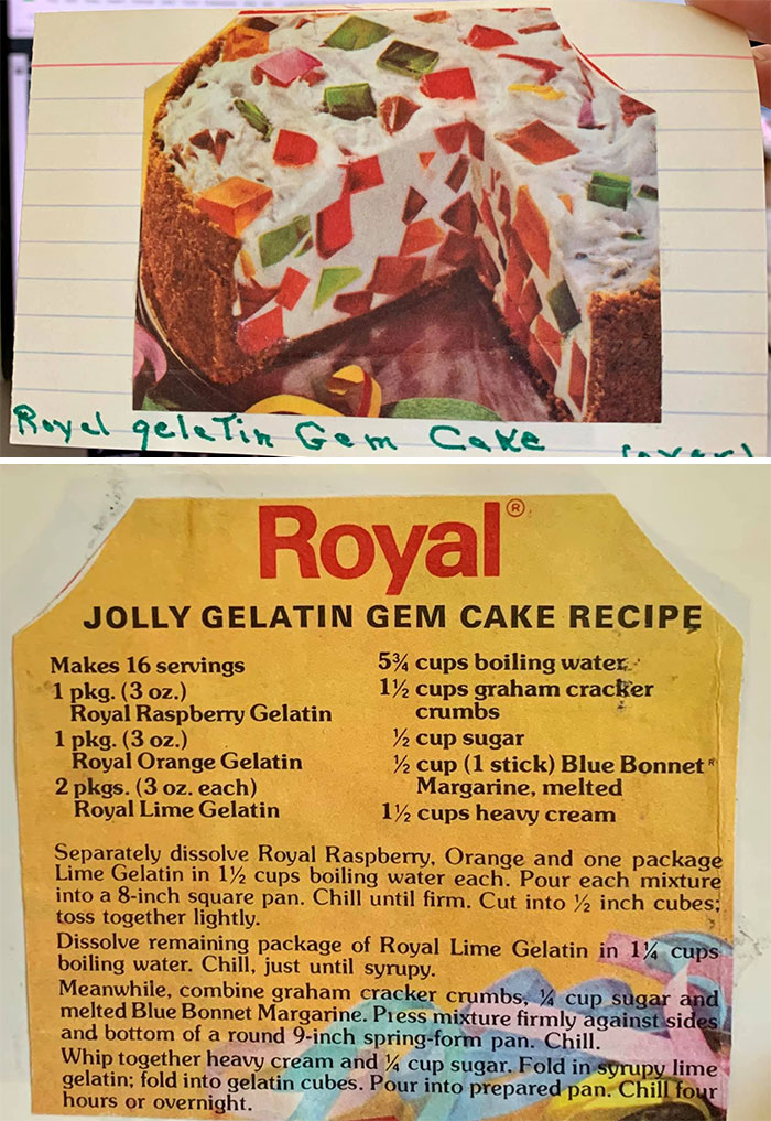 I'm Going Through My Mom's Recipe Box Since She Passed Away. I've Come Across Some Lovely Recipes (Heh) Including This Gem. I Hope It's Okay For Me To Share A Few More Later