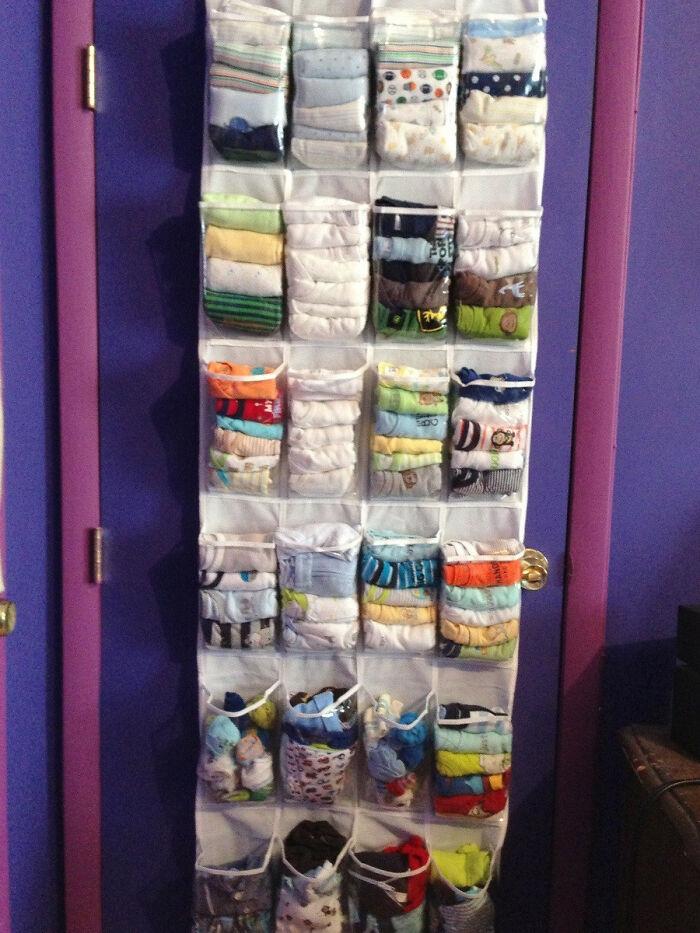 Baby Clothing Storage Idea